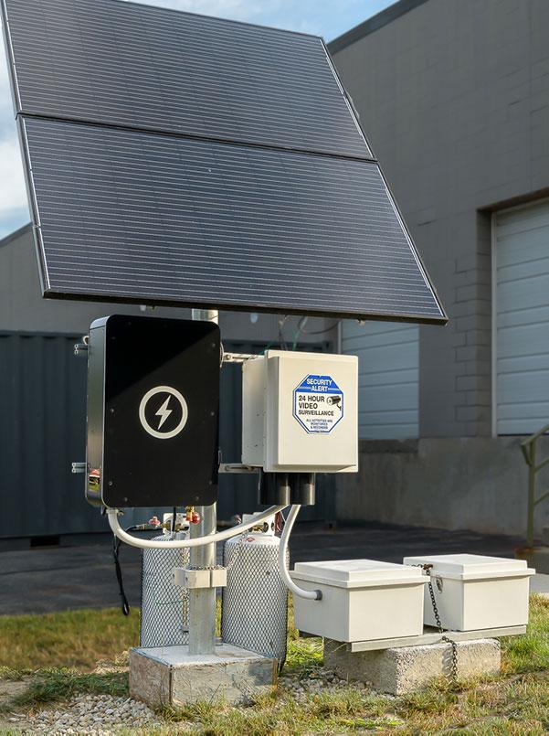 Backup generator with solar panels